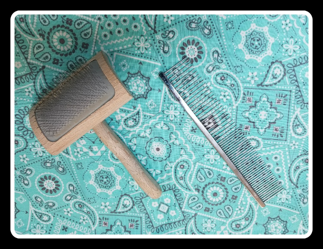 Chris Christensen Mark VI Slicker Brush and Buttercomb